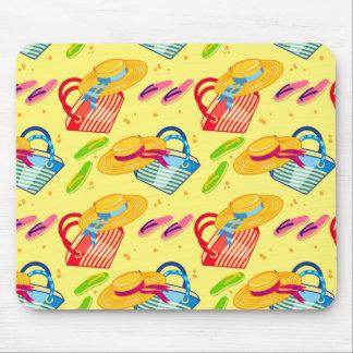 Summer beach mouse pad