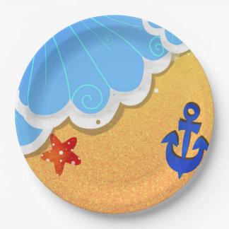 Summer Beach paper plates