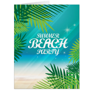 Summer Beach Party Card