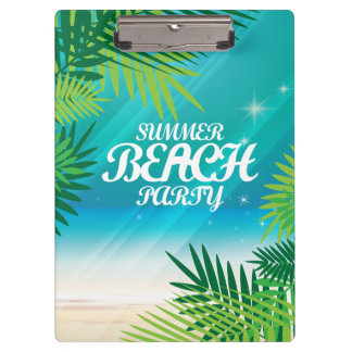 Summer Beach Party Clipboards