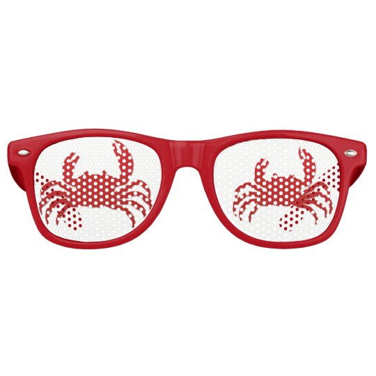 Summer Beach Party Crabs Retro Sunglasses