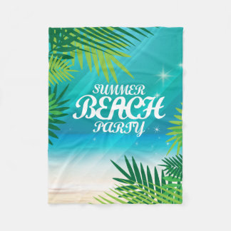 Summer Beach Party Fleece Blanket