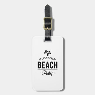 Summer Beach Party Luggage Tag