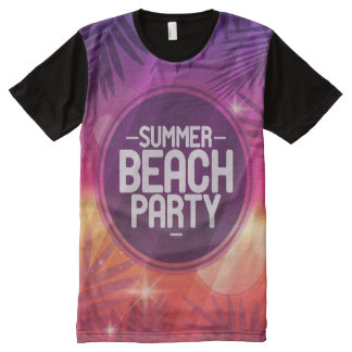 Summer Beach Party Night All-Over-Print T-Shirt