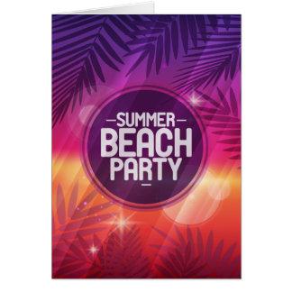 Summer Beach Party Night Card