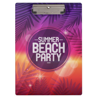 Summer Beach Party Night Clipboards