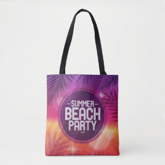 Summer Beach Party Night Tote Bag