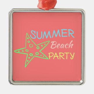 Summer Beach Party Pretty Pastels Metal Ornament