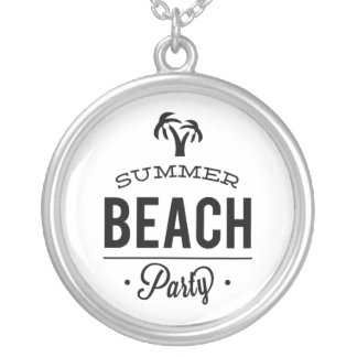 Summer Beach Party Silver Plated Necklace