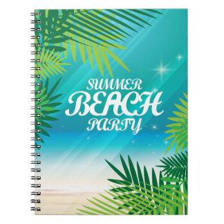 Summer Beach Party Spiral Notebooks