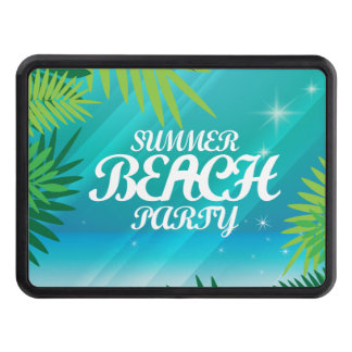 Summer Beach Party Trailer Hitch Cover