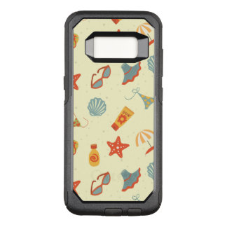 Summer Beach Pattern OtterBox Commuter Samsung Galaxy S8 Case