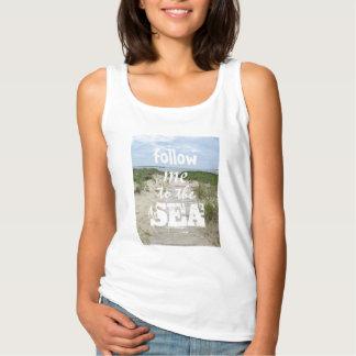 Summer beach photo tank top