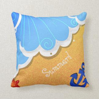 Summer beach pillow