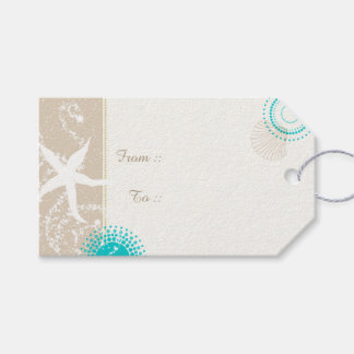 Summer Beach Sand Starfish Wedding Gift Tags