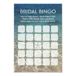 Summer Beach Starfish 5x5 Bridal Bingo Cards
