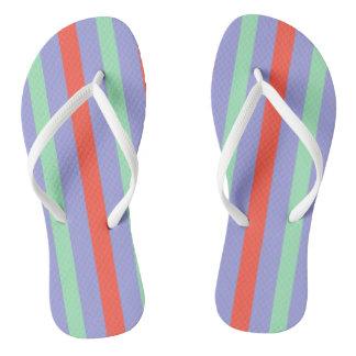 Summer beach towel stripes flip flops