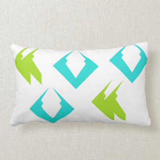 Summer Beach Travel Pillows Lime Aqua Minimalist