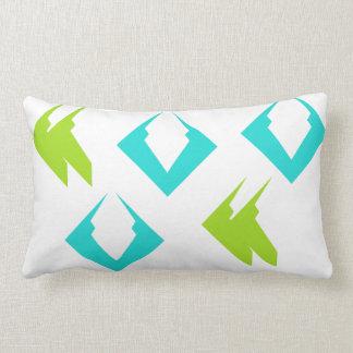 Summer Beach Travel Pillows Lime Aqua Minimalist