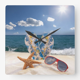 Summer Beach Vacation Wall Clock