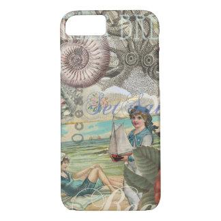 Summer beach vintage retro victorian iPhone 7 case