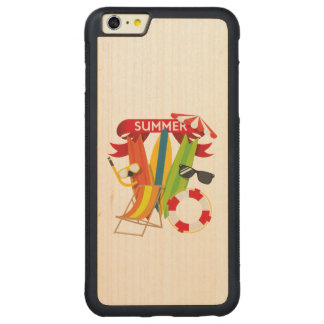 Summer Beach Watersports Carved Maple iPhone 6 Plus Bumper Case