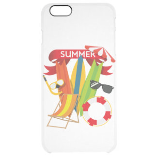 Summer Beach Watersports Clear iPhone 6 Plus Case