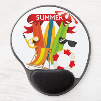 Summer Beach Watersports Gel Mouse Pad