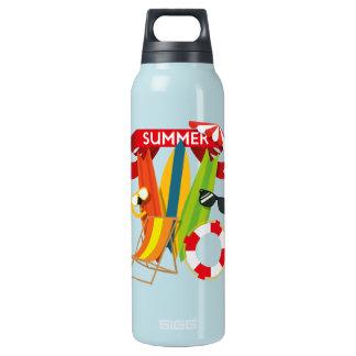 Summer Beach Watersports Insulated Water Bottle