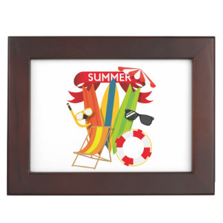 Summer Beach Watersports Keepsake Box
