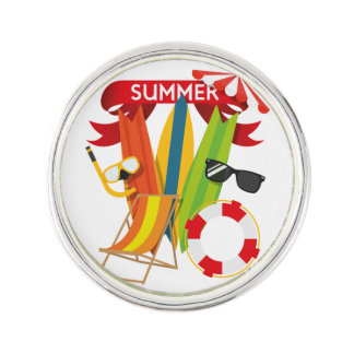 Summer Beach Watersports Lapel Pin