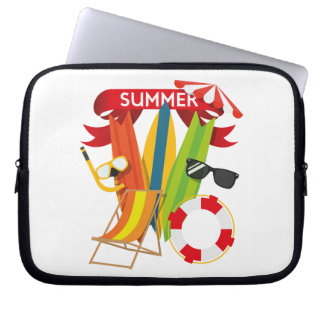 Summer Beach Watersports Laptop Sleeve