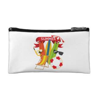 Summer Beach Watersports Makeup Bag