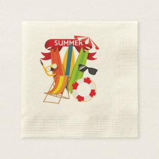 Summer Beach Watersports Paper Napkin