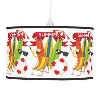 Summer Beach Watersports Pendant Lamp