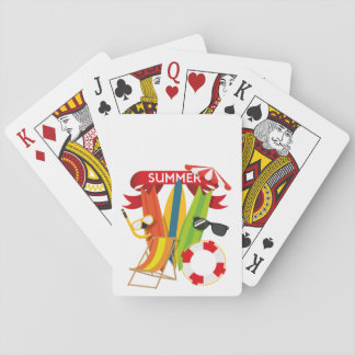Summer Beach Watersports Playing Cards