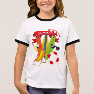 Summer Beach Watersports Ringer T-Shirt
