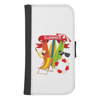Summer Beach Watersports Samsung S4 Wallet Case