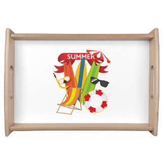 Summer Beach Watersports Serving Tray