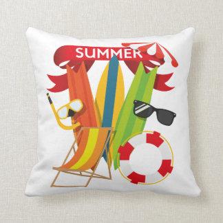 Summer Beach Watersports Throw Pillow