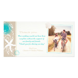Summer Beach Wedding Celebration Thank You Card