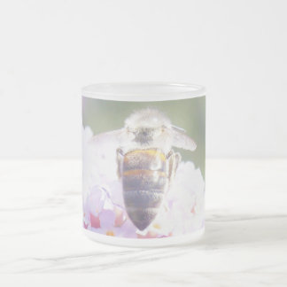 Summer Bee Frosted Glass Coffee Mug