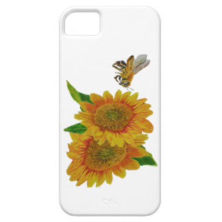 Summer Bee Sunflower Painting iPhone 5 Cover