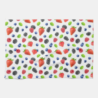 Summer berries kitchen towel