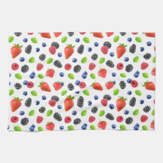 Summer berries kitchen towel