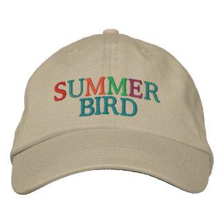 Summer Bird Embroidered Hat