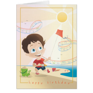Summer Birthday Greeting. 2/12. Card