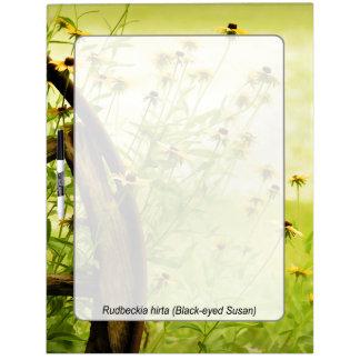 Summer Black-Eyed Susan and Wagon Wheel Photo Dry Erase Board