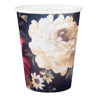 Summer Bloom Custom Paper Cup, 9 oz Paper Cup
