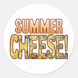 Summer Blue Cheese Round Sticker